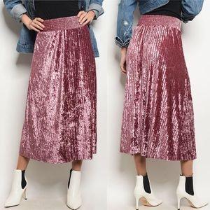 Dresses & Skirts - Pleats and Thank You Velvet Midi Length Skirt